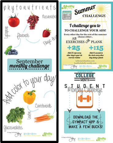Take on a monthly challenge and get healthy!